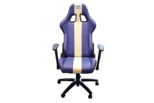 Laser 6654 Laser Tools Racing Chair - Blue/White stripe